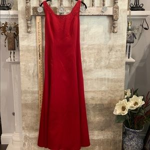 Red Satin ballgown/ Bridesmaid, prom. Size 10